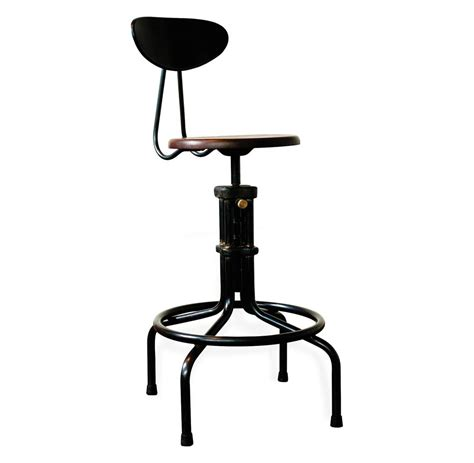 adjustable stool with back brexton adjustable height industrial mahogany stool with