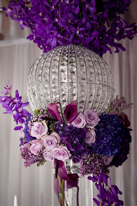 a dramatic centerpiece in another setup at our purple rain