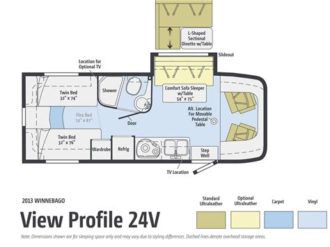 floor plan view road test 2013 winnebago view 24v rv magazine