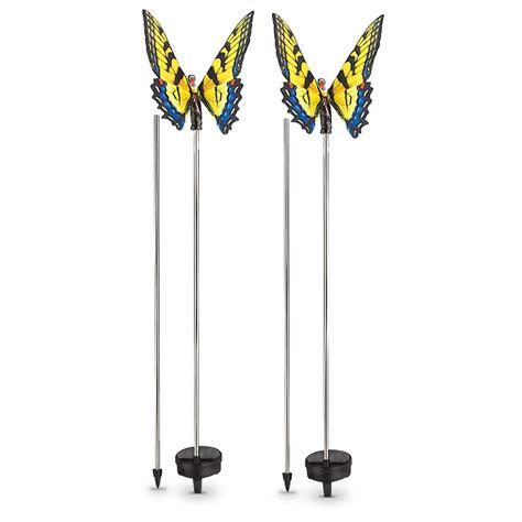 butterfly solar light 2 castlecreek 174 butterfly solar lights 233709 solar