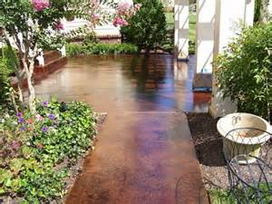 concrete patio stain ideas give and look to your exterior house with