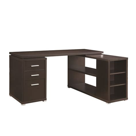 my desk has no drawers parson corner desk with shelving unit dark brown home