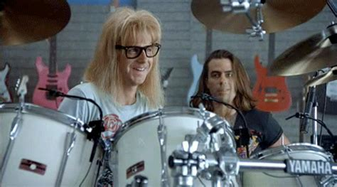 waynes world drums gif find & share on giphy