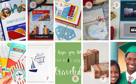 Travel Site Gift Cards - 10 travel themed gift cards for graduates gcg