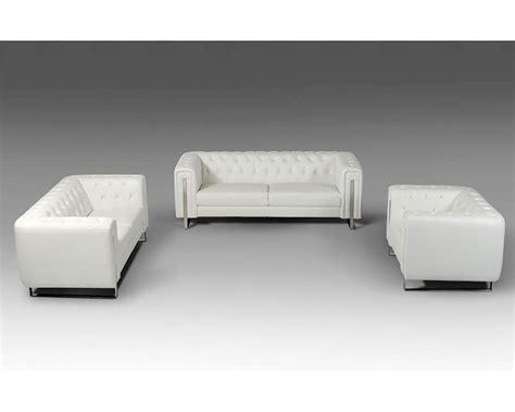 leatherette sofa contemporary white leatherette sofa set 44l5946