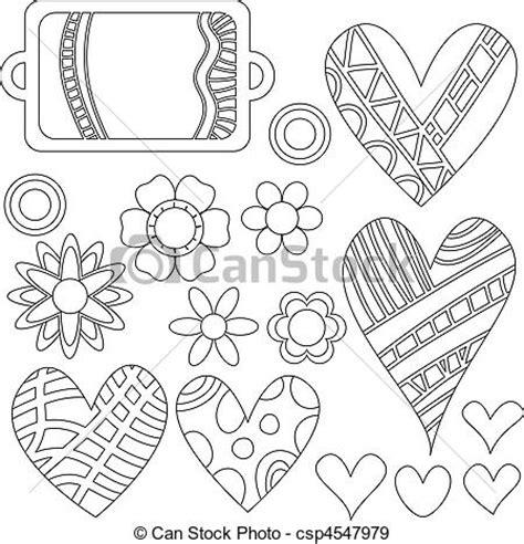 imagenes en blanco y negro de corazones eps vectores de etiquetas flores blanco negro