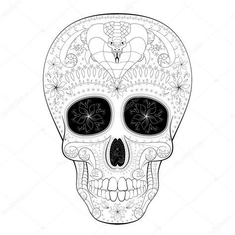 dia de muertos tatuaje calavera d 237 a de muertos con cobra