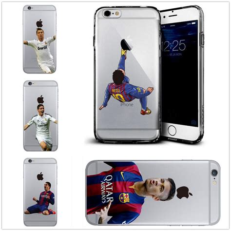 Cheer Soccer Casing Iphone 7 6s Plus 5s 5c 4s Cases Samsung football soccer player messi ronaldo suarez soft for iphone 6 6s plus 5s 7 ebay