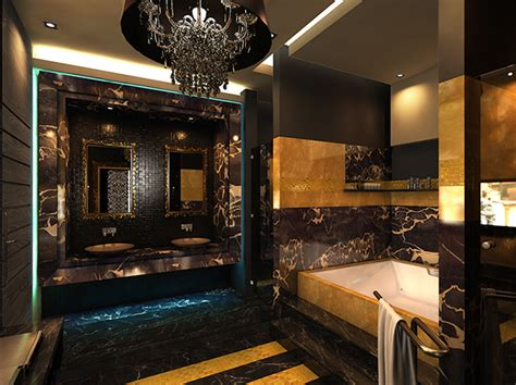 black  gold bathroom  behance