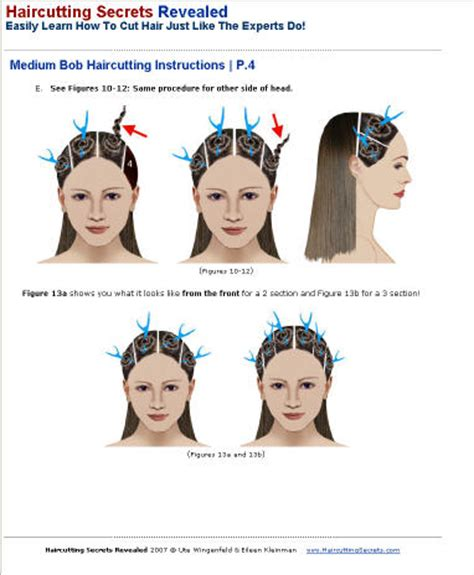 written instructions for how to cut a bob haircutting secrets revealed gallery sle ebook pages