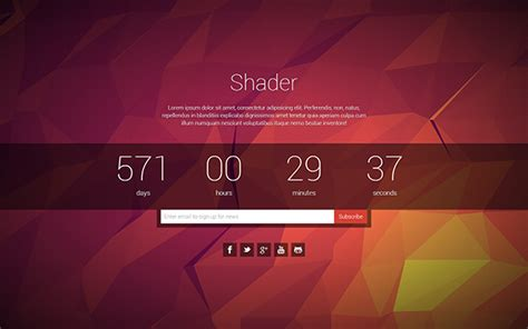 bootstrap themes free countdown download shader coming soon page bootstrap templates v1