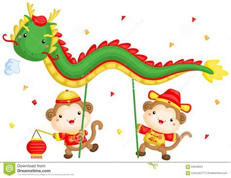 new year monkey animation monkey new year stock vector image