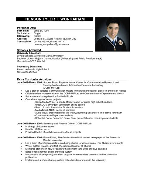 sample application resume example high school graduate resume for