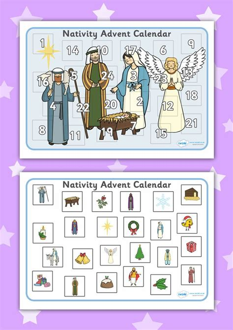 printable calendar resources 2u twinkl resources gt gt nativity advent calendar activity