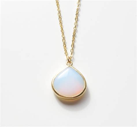 white opal necklace white opal necklace white opal gold necklace opal
