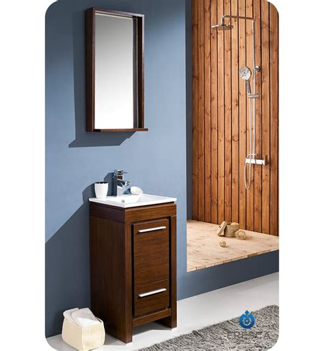 16 bathroom vanity 16 fresca allier wenge brown fvn8118wg small modern