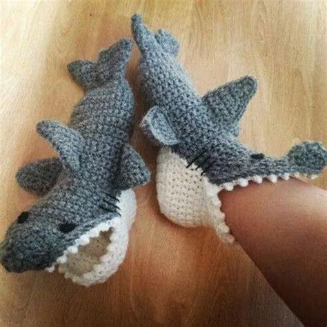 knitted shark booties custom order handmade crocheted knitting shark slipper socks