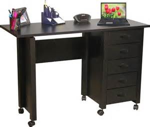 mobile folding desk amp craft table w 5 drawers