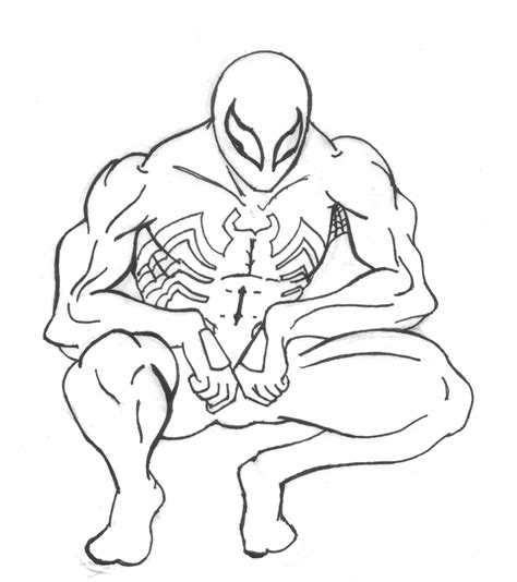 spiderman black by dpredfire on deviantart