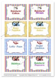 wizard of oz templates wizard of oz labels sassaby