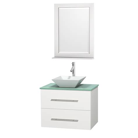 White 30 Inch Bathroom Vanity Wyndham Collection Wcvw00930swhggd2wm24 Centra 30 Inch Single Bathroom Vanity In White Green