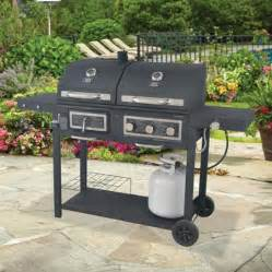 Backyard Grill Dual Backyard Grill 667 Sq In Gas Charcoal Grill Walmart