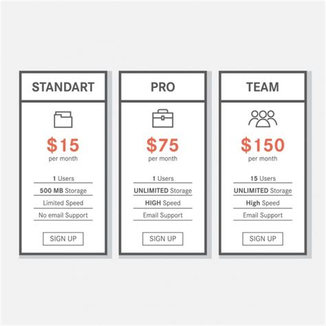 price template design price table template design vector free