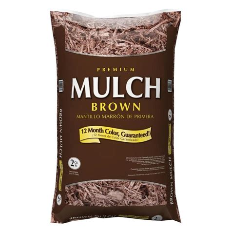 shop premium  cu ft dark brown hardwood mulch  lowescom