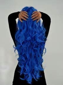 blue colored hair blue blue hair color hair hair image 535598 on