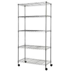 chrome wire shelving with wheels homegear 5 shelf shelving unit with wheels chrome ebay