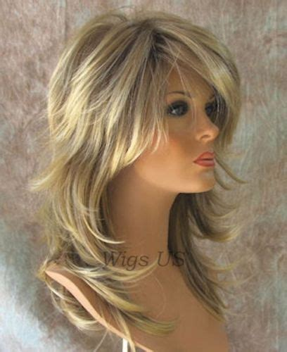 pics long choppy layered hairstyles with bangs wigs long wig choppy layers lots of motion dark blond with