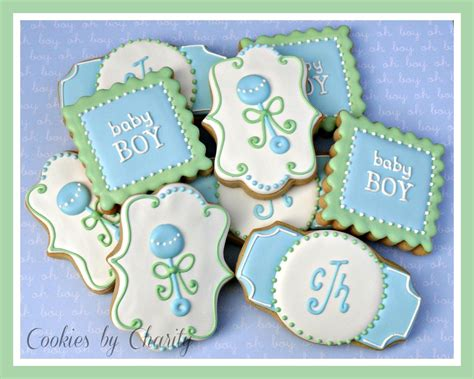 Cookies For Baby Shower Boy by Decorated Cookies For A Baby Boy Shower Expecting Blue