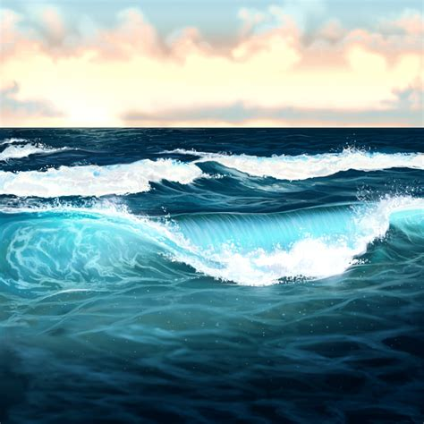 Waves In The how to paint water waves and the in adobe photoshop