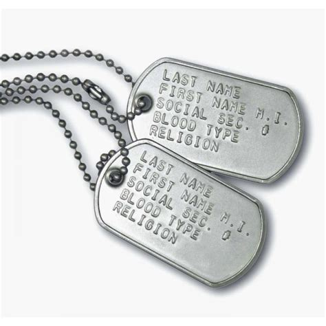 navy tags tags on soldier