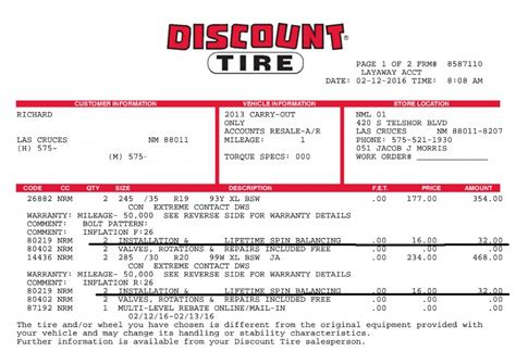 tire receipt template bent wheel corvetteforum chevrolet corvette forum