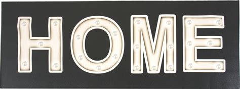 large stretched canvas light up home sign scarthingwell