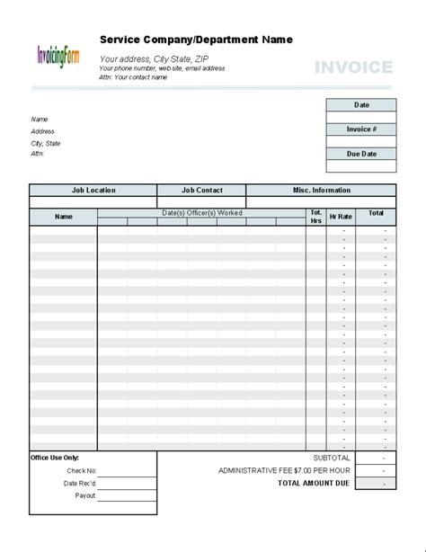 invoice template for hours worked hours worked invoice template 5 results found