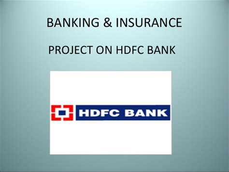 Mba Project Hdfc Standard Insurance by 36518008 Hdfc Bank 3