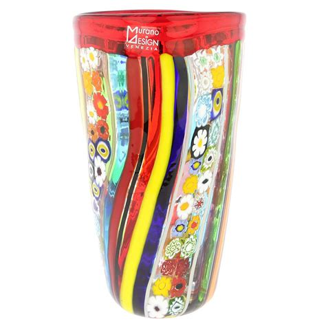 murano vase murano glass vases murano glass primavera millefiori vase