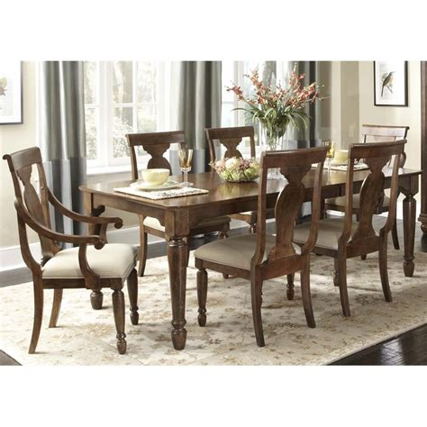Liberty Dining Table Liberty Furniture Rustic Traditions Dining Table In Rustic Cherry 589 T4284