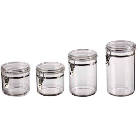 classical 4 canister set clear walmart