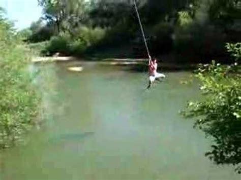 russian rope swing russian river rope swing kobi youtube