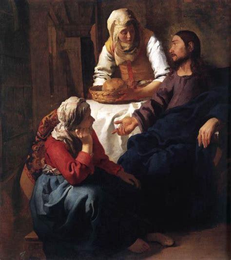 nella casa cristo nella casa di marta e di johannes vermeer