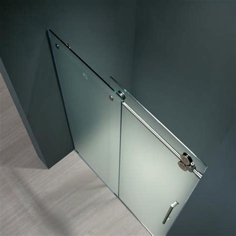 frameless shower door hardware supplies vigo 48 inch frameless shower door 3 8 quot frosted chrome hardware left product