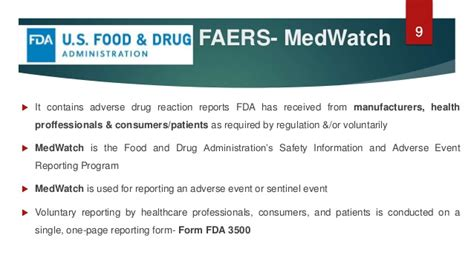 food and drug administration medwatch report pharmacovigilance systems methodologies across the globe