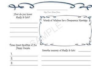 8 best images of wedding book pages printable free