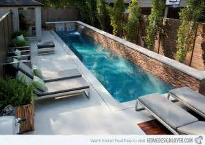 Small Backyard Inground Pool Design 15 Great Small Swimming Pools Ideas Home Design Lover