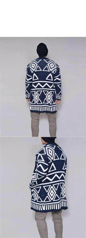 tribal pattern mens jacket abstract designer tribal pattern mens long sweater