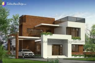 designer home plans 2700 sq ft contemporary box house design indian home