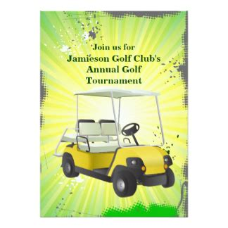 golf cart tournament cards template golf tournament invitations announcements zazzle